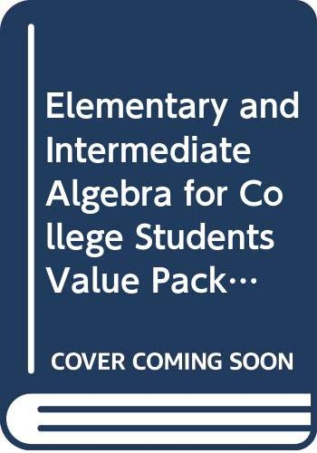 9780321747143: Elementary and Intermediate Algebra for College Students Value Package (includes MyMathLab/MyStatLab Student Access) (3rd Edition)