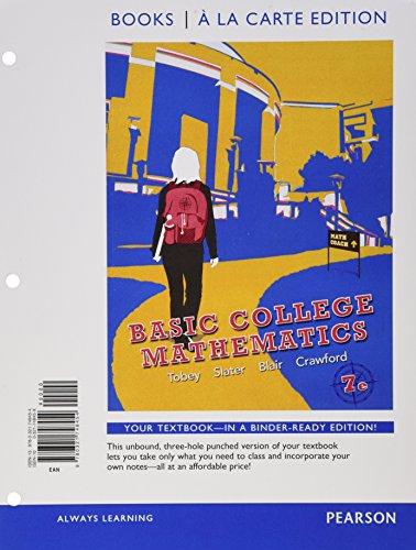 9780321748454: Basic College Mathematics, Books a la Carte Edition (7th Edition)