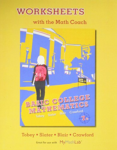 9780321748522: Worksheets with the Math Coach for Basic College Mathematics
