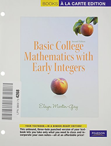 9780321748690: Basic College Mathematics with Early Integers, Books a la Carte Edition (2nd Edition)