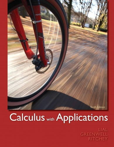 9780321749000: Calculus with Applications