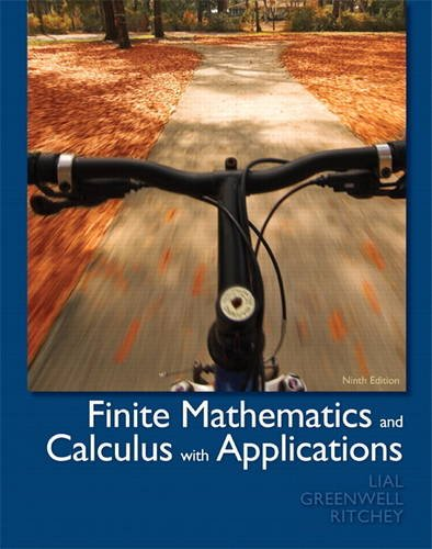 9780321749086: Finite Mathematics and Calculus with Applications (9th Edition)