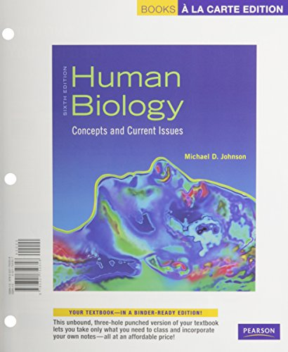 9780321750358: Human Biology: Concepts and Current Issues, Books a la Carte Edition (6th Edition)