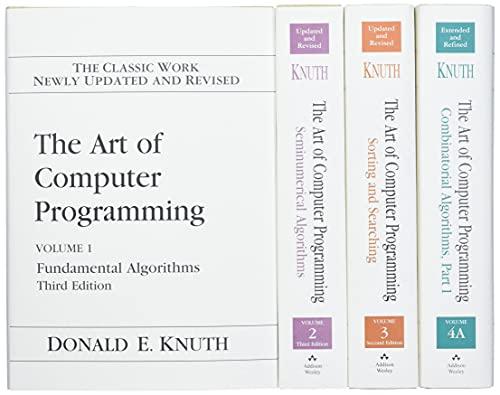 9780321751041: The Art of Computer Programming, Volumes 1-4 (Box Set)