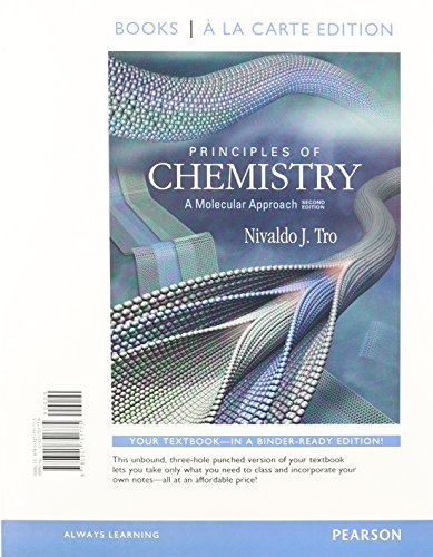 9780321751775: Books a la Carte for Principles of Chemistry: A Molecular Approach (2nd Edition)