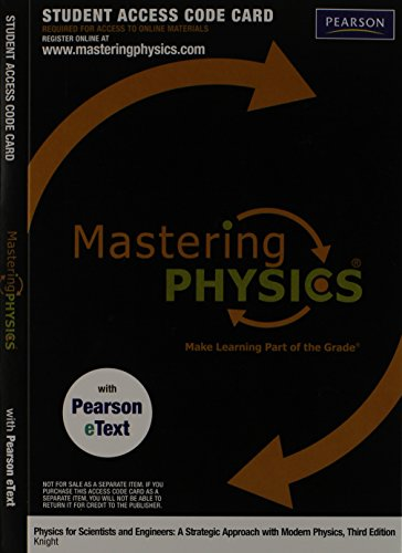 9780321753045: MasteringPhysics with Pearson eText -- Valuepack Access Card -- for Physics for Scientists (ME component)