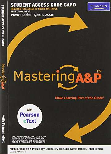 9780321753793: Mastering A&P Access Code for Human Anatomy & Physiology Laboratory Manuals, Update, 10th Edition