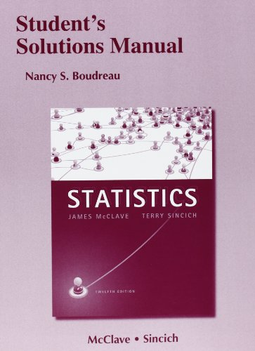 9780321755971: Student's Solutions Manual for Statistics