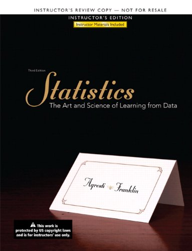 Third Edition Statistics: The Art of Science