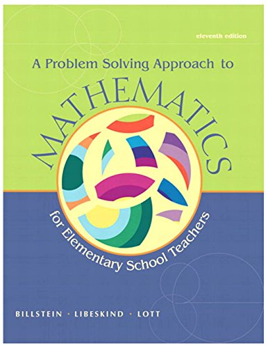 9780321756664: A Problem Solving Approach to Mathematics for Elementary School Teachers