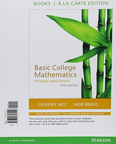 9780321757111: Basic College Mathematics through Applications, a la Carte Edition (5th Edition)
