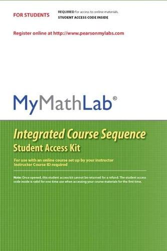 MyMathLab CourseCompass Integrated Course Sequence -- Standalone: Pearson Education