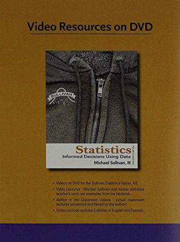9780321757463: Videos on DVD for the Sullivan Statistics Series