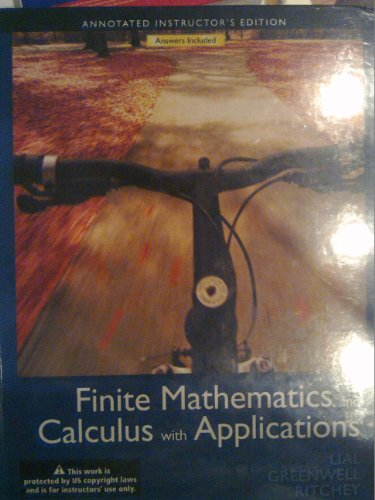 9780321757982: Finite Mathematics And Calculus With Applications (Annotated Instructors Edition)