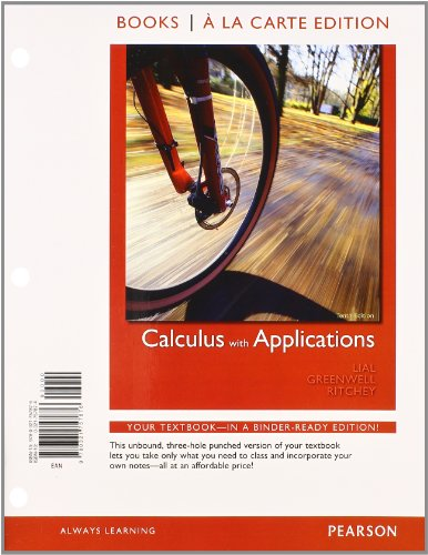 9780321759542: Calculus with Applications, Books a la Carte Plus MML/MSL Student Access Code Card (for ad hoc valuepacks) (10th Edition)