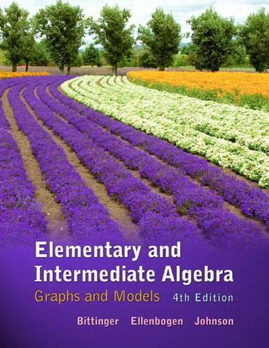 9780321760210: Elementary and Intermediate Algebra: Graphs and Models plus MyLab Math/MyLab Statistics -- Access Card Package (4th Edition)