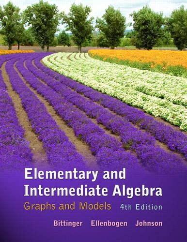 9780321760210: Elementary and Intermediate Algebra: Graphs and Models plus MyMathLab/MyStatLab -- Access Card Package (4th Edition)