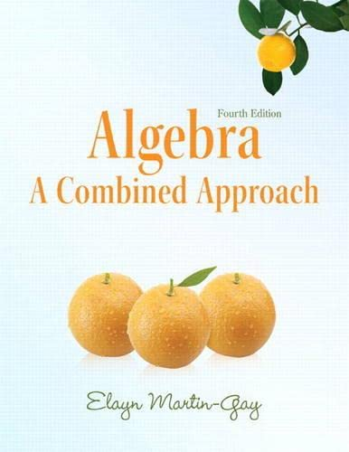 9780321760234: Algebra:A Combined Approach plus MyMathLab/MyStatLab -- Access Card Package