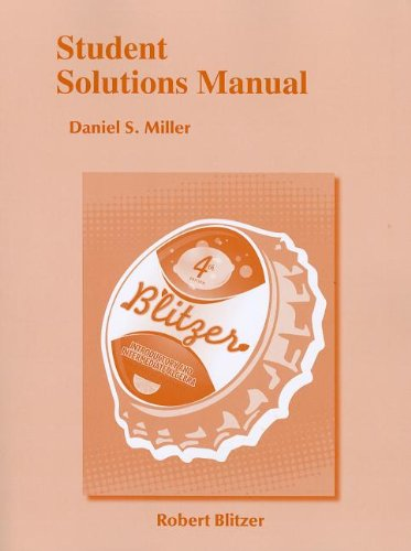 9780321760524: Student Solutions Manual for Introductory & Intermediate Algebra for College Students