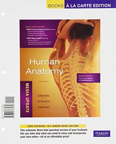 9780321765055: Human Anatomy, Media Update, Books a La Carte Plus MasteringA&P -- Access Card Package (6th Edition)
