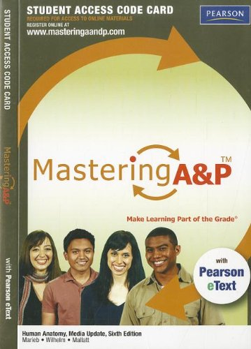 9780321765086: Human Anatomy Media Update Mastering A&P Access Code Card