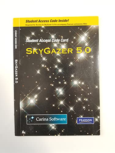 9780321765185: SkyGazer 5.0 Student Access Code Card (Integrated component)