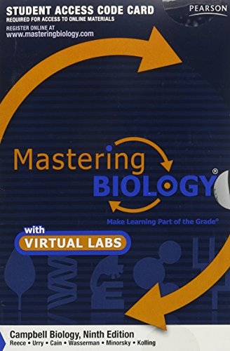 9780321766007: MasteringBiology without Pearson eText for with MasteringBiology Virtual Lab Full Suite -- Standalone Access Card -- for Campbell Biology