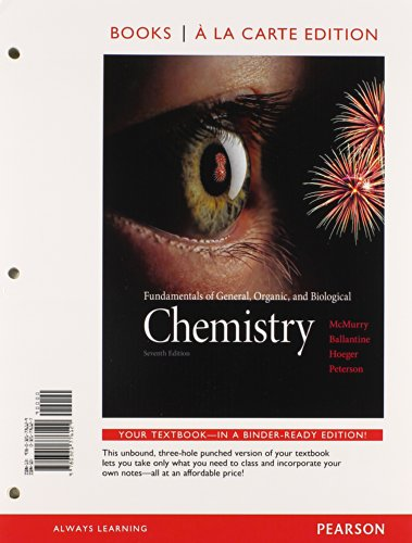9780321767257: Chemistry: Fundamentals of General, Organic, and Biological, Books a La Carte Edition