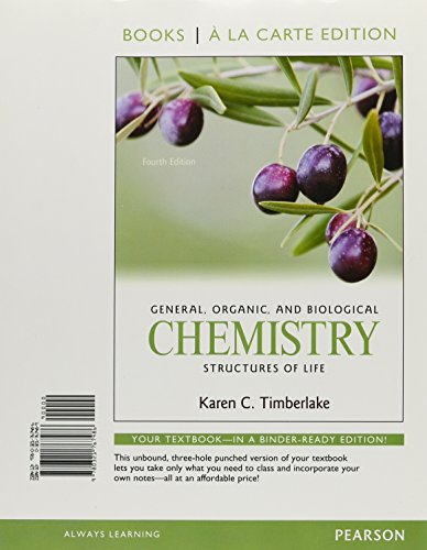 9780321767479: General, Organic, and Biological Chemistry: Structures of Life, Books a la Carte Plus MasteringChemistry with eText -- Access Card Package (4th Edition)