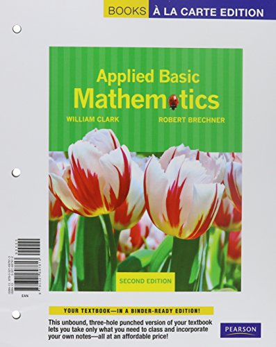 9780321771841: Applied Basic Mathematics, Books a la Carte Plus MML/MSL (for ad hoc valuepacks) -- Access Card Package (2nd Edition)