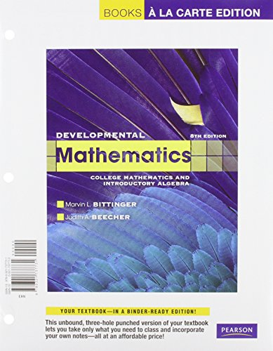 9780321771889: Developmental Mathematics, Books a la Carte Plus MML/MSL Student Access Code Card (for ad hoc valuepacks) (8th Edition)