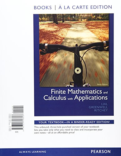 9780321771896: Finite Mathematics and Calculus with Applications, Books a la Carte Plus MML/MSL Student Access Code Card (for ad hoc valuepacks (9th Edition)