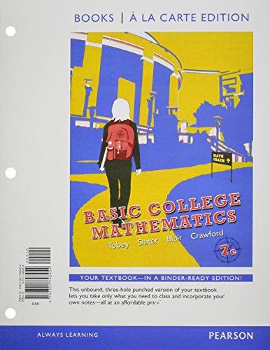 9780321771957: Basic College Mathematics, Books a la Carte Plus MML/MSL Student Access Code Card (for ad hoc valuepacks) (7th Edition)