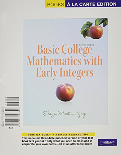 9780321771995: Basic College Mathematics with Early Integers, Books a la Carte Plus MML/MSL Student Access Code Card (for ad hoc valuepacks) (2nd Edition)