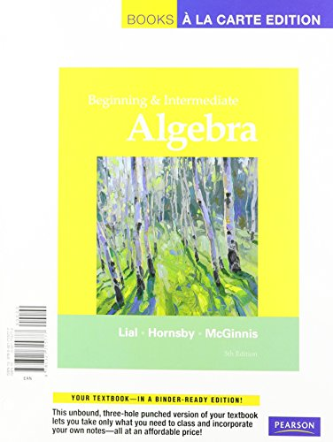 9780321772022: Beginning and Intermediate Algebra, Books a la Carte Plus MML/MSL Student Access Code Card (for ad hoc valuepacks) (5th Edition)