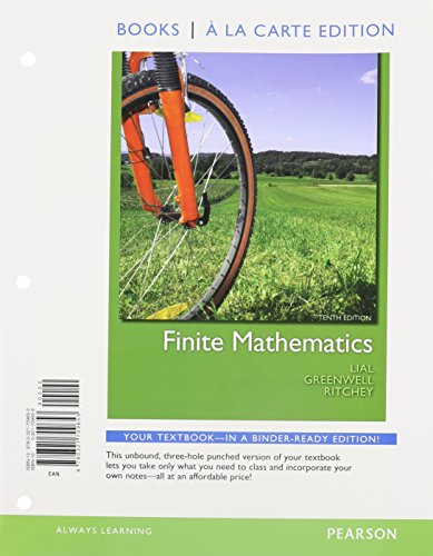 9780321772046: Finite Mathematics, Books a la Carte Plus MML/MSL Student Access Code Card (for ad hoc valuepacks) (10th Edition)
