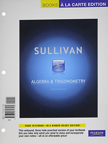 Algebra and Trignometry, Books a la Carte Plus MyMathLab with Pearson eText -- Access Card Package ...