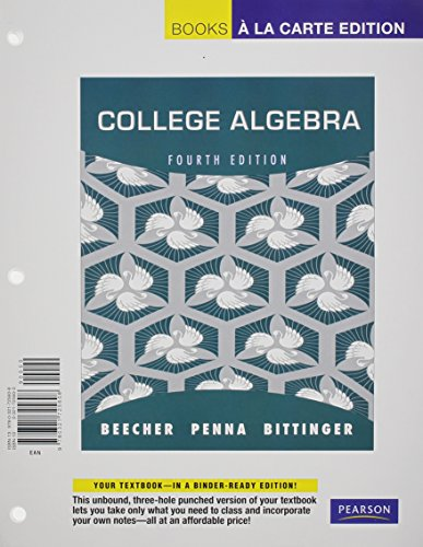 9780321772206: College Algebra, Books a la Carte Plus MyMathLab with Pearson eText -- Access Card Package (4th Edition)