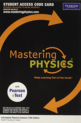 9780321773081: MasteringPhysics with Pearson eText -- Valuepack Access Card -- for Conceptual Physical Science (ME component)