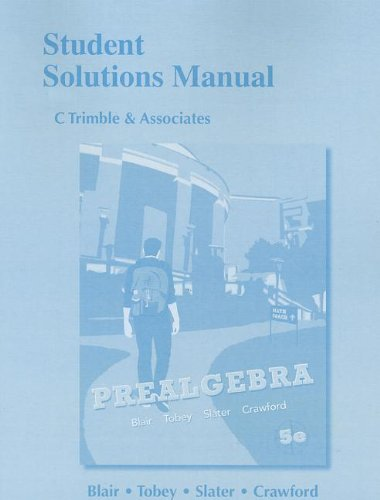 9780321773531: Student Solutions Manual for Prealgebra