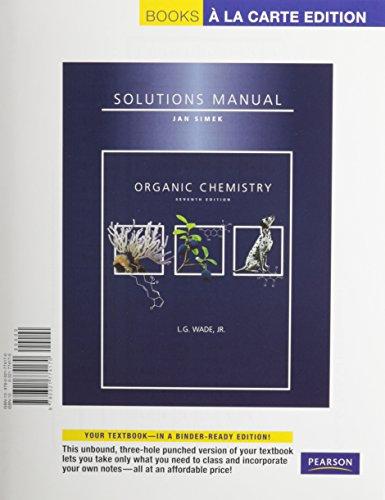 Organic Chemistry Student Solutions Manual, Books a: Simek, Jan W.,