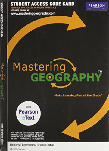 9780321775764: MasteringGeography with Pearson eText -- Valuepack Access Card -- for Elemental Geosystems (ME component)