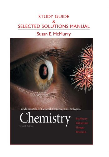 9780321776105: Study Guide and Selected Solutions Manual for Fundamentals of General, Organic, and Biological Chemistry