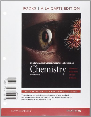 9780321776129: Fundamentals of General, Organic, and Biological Chemistry, Books a la Carte Edition (7th Edition)