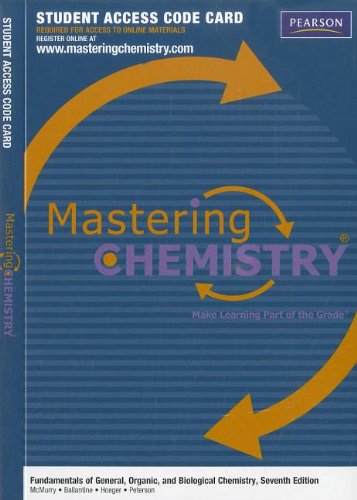 9780321776143: MasteringChemistry -- Standalone Access Card -- for Fundamentals of General, Organic, and Biological Chemistry