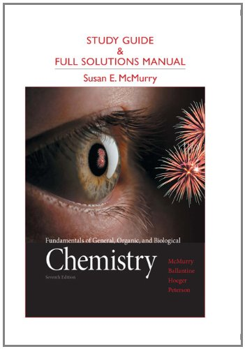 9780321776167: Study Guide and Full Solutions Manual for Fundamentals of General, Organic, and Biological Chemistry
