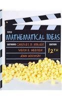 9780321777812: Mathematical Ideas with Student Solutions Manual and Video Resources on DVD (12th Edition)