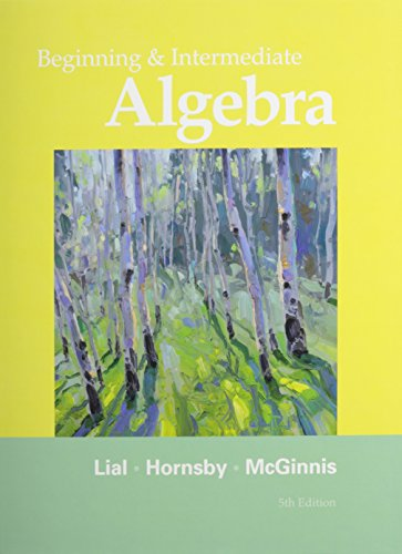9780321779359: Beginning and Intermediate Algebra with MyWorkBook for Beginning and Intermediate Algebra and MyMathLab/MyStatLab -- Valuepack Access Card Package (5th Edition)