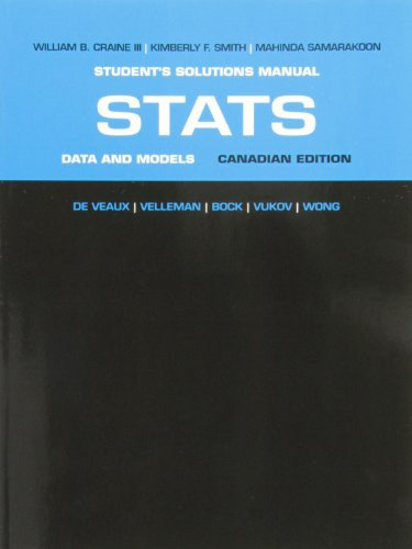 9780321780225: Student Solutions Manual for Stats: Data and Models, First Canadian Edition