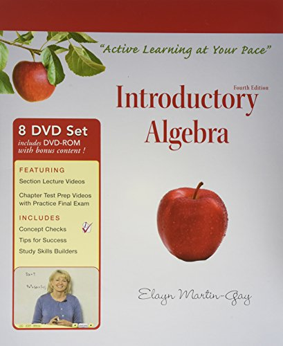 Interactive DVD Lecture Series for Introductory Algebra: Martin-Gay, Elayn